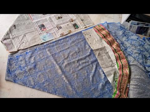 How to make a  umbrella cut lehenga from net saree with farma cutting