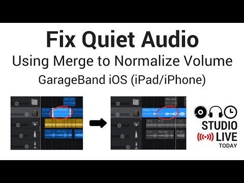 Fix Quiet Audio in GarageBand iOS (iPad/iPhone) - Using Merge to Normalize Volume
