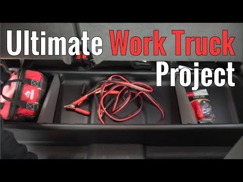 Ultimate Work Truck Project Part 4 - Underseat Storage