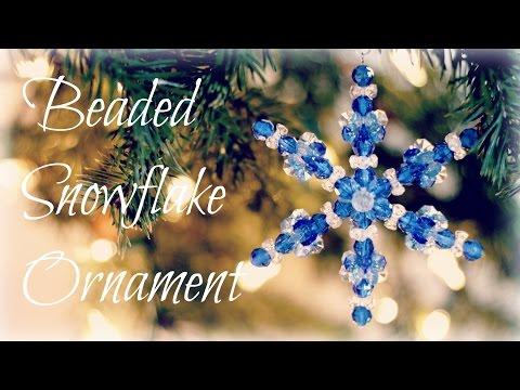 Beaded Snowflake Ornaments!! Bead Ornament Tutorial