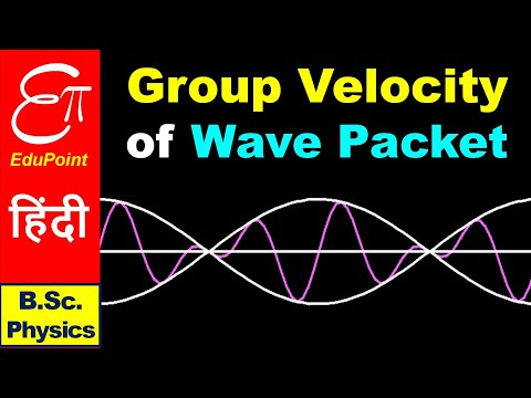 GROUP VELOCITY and PHASE VELOCITY || Quantum Mechanics in HINDI for B.Sc.