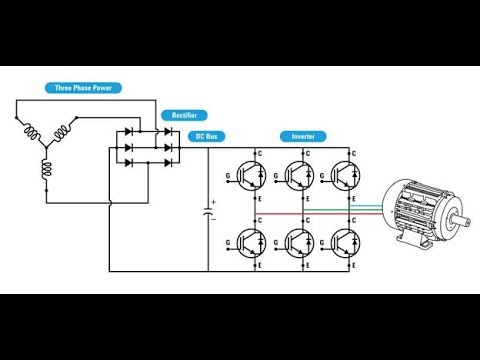 3 phase induction motor drive controlled by parallel port - part 1