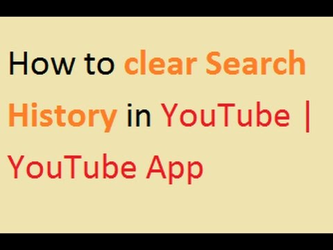 How to clear Search History in YouTube | YouTube App