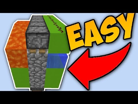 Minecraft EASY Cobblestone Generator Tutorial [Automatic]