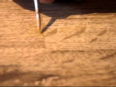 Chip in laminate floor -  How to repair visually