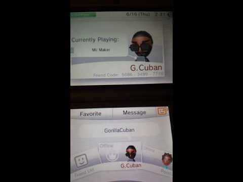 Gorillacuban's 3ds friend code