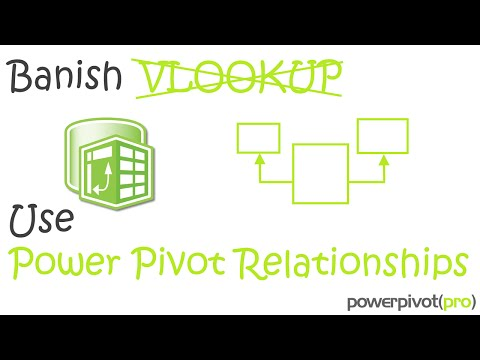 PowerPivot Relationships are EASIER than VLOOKUP, not just faster