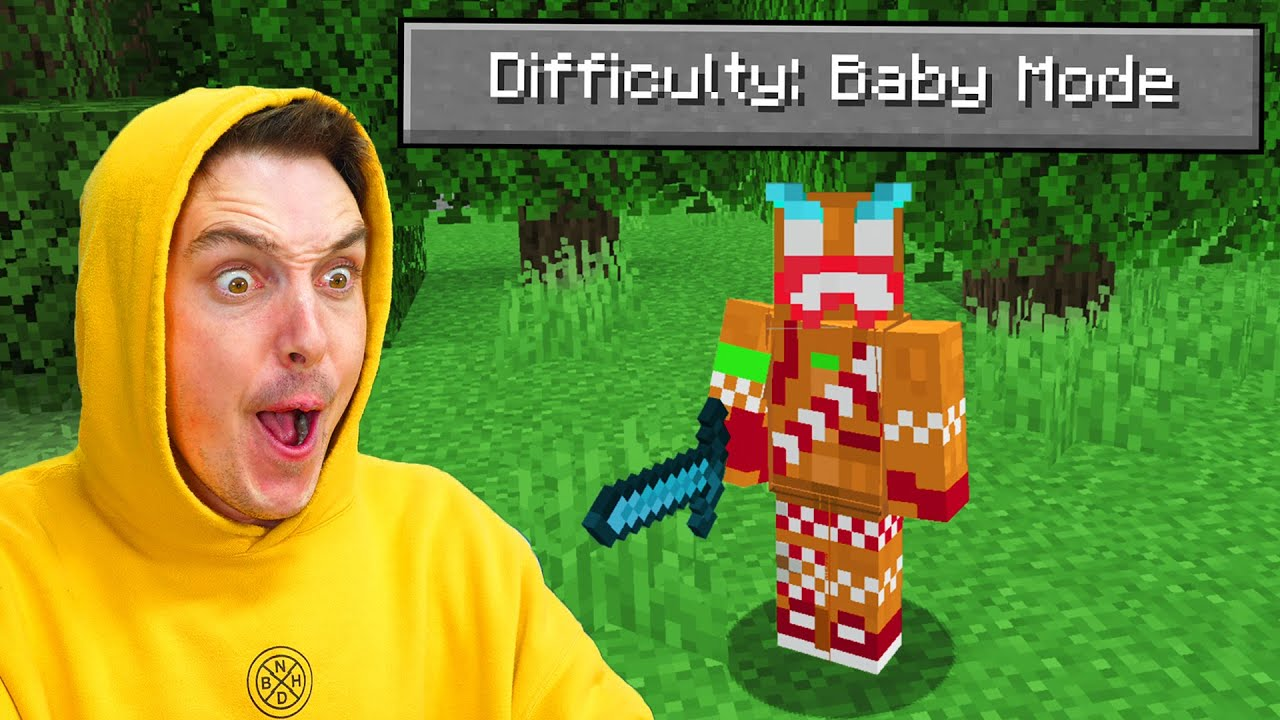I Played Minecraft BABY MODE