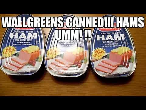 Wallgreens Celebrity canned ham & ALDIS Black forest Sliced ham $1.93(2)