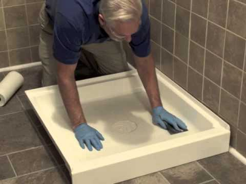 Installing a shower inlay