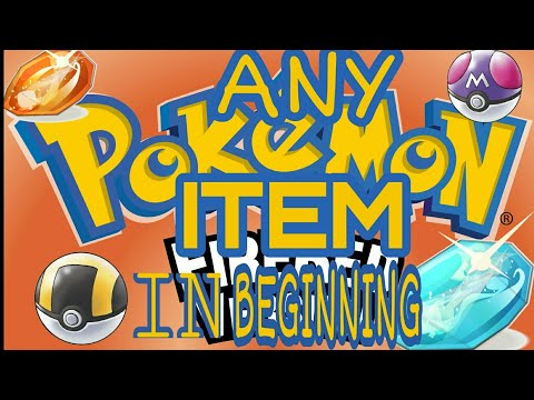How to get any item in Pokemon fire red in the beginning of the game