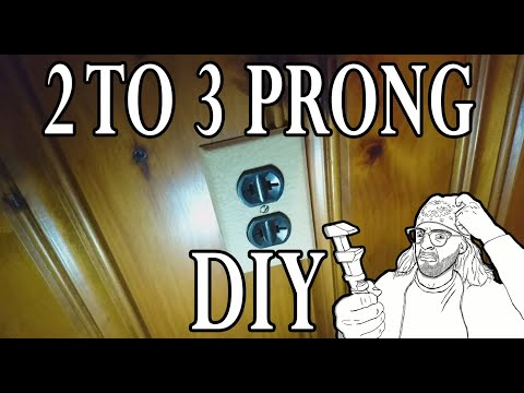 How to Convert a 2 Prong Outlet to a Grounded 3 prong Outlet (TYPE AC Cable WITH Grounding Strip)