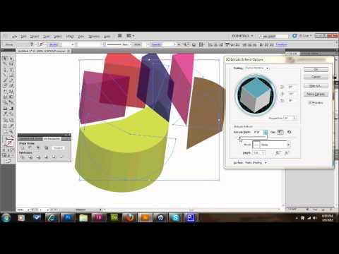 Illustrator Tutorial 3D Pie Charts | Glazefolio Design Blog