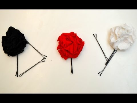 DIY T-shirt Flower Hair Pins