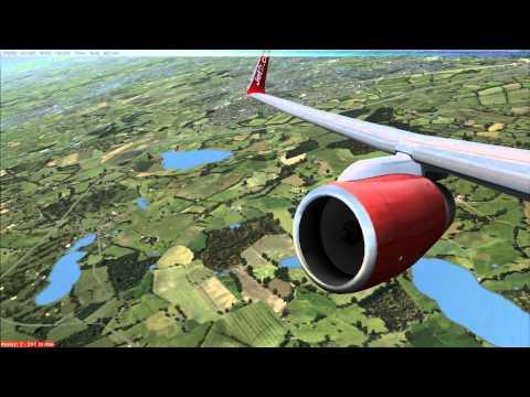 FSX HD - Jet2 Boeing 757-200 Manchester (EGCC) to Tenerife (GCTS) Full Flight
