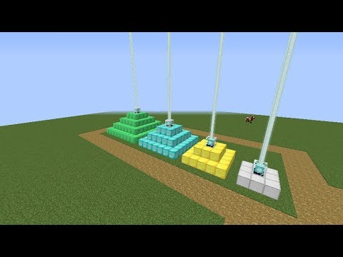Minecraft 1.12.2:How to make a beacon and how to make it work