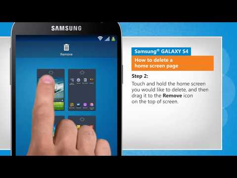 How to Delete a Home Screen Page on Samsung® GALAXY S4