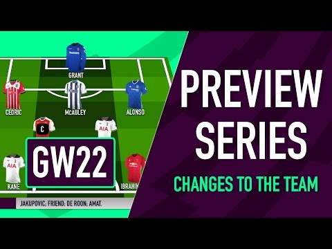Gameweek 22 Preview | CHANGES TO THE TEAM | Fantasy Premier League 2016/17