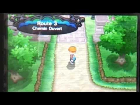 Pokémon X 3D's : Mon premier pokémon shiny : Shiny Hasard : 1 Rencontre ! ABSOL