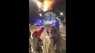 SHOCKING REAL LIFE FIRE OF HELL IN LONDON !!!! SCREAMS !!! PANIC !!! LOSS ONES !!!! SURVIVERS !!!