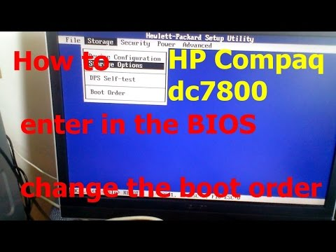 #051 How to enter in BIOS change the boot order HP Compaq dc7800 ultra slim desktop PC