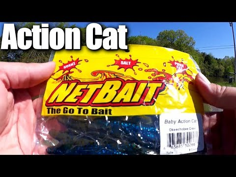 Bass Fishing With NetBait Lures From Walmart - Baby Action Cat