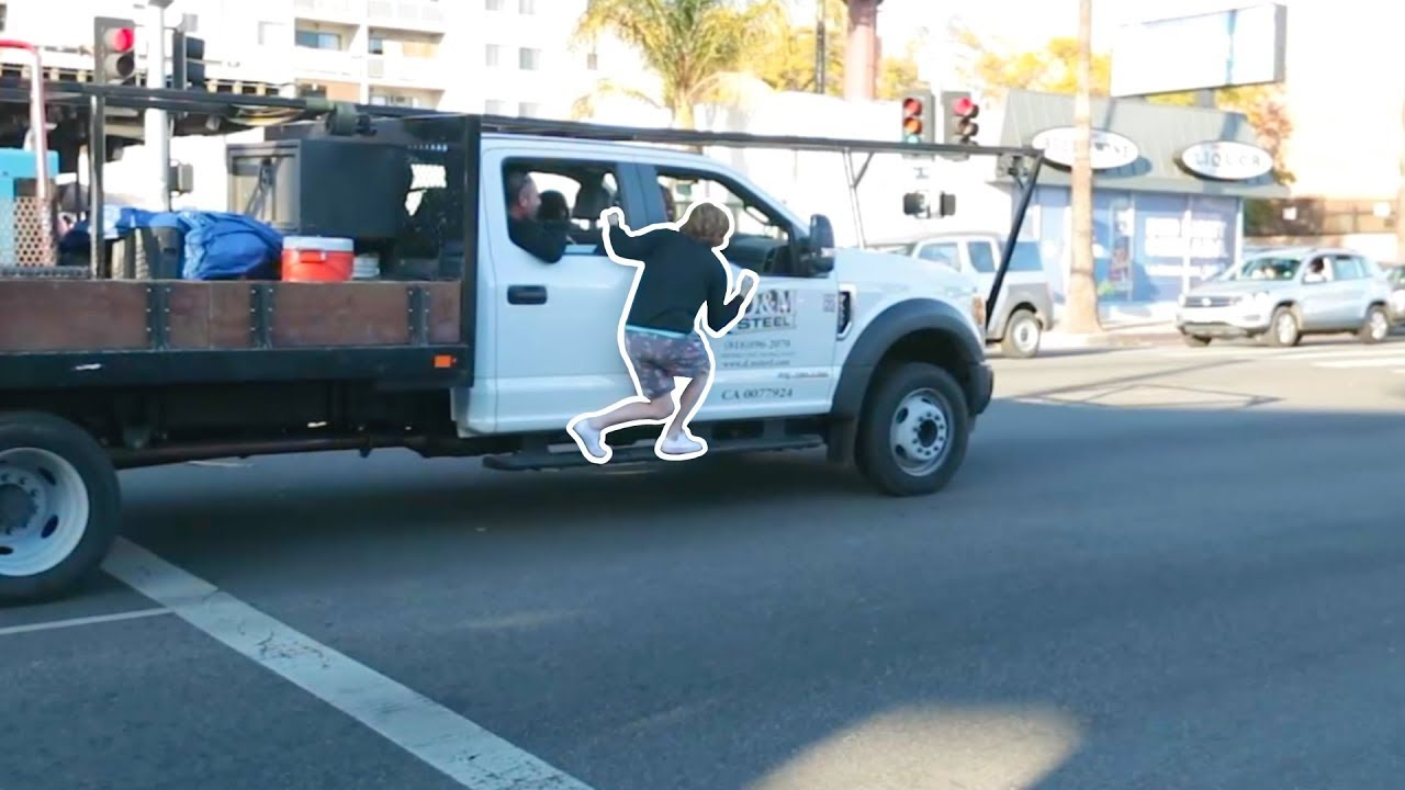 Jumping On One Car In Traffic!