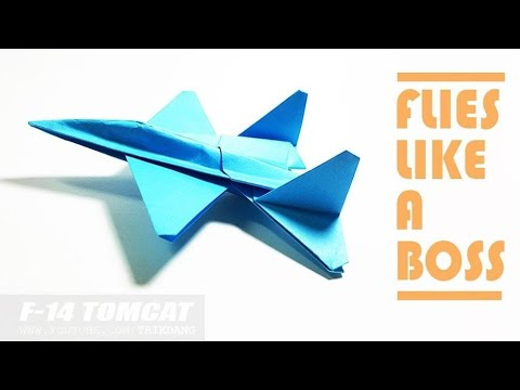 PAPER AIRPLANE for KIDS - How to make a Paper Airplane That Flies | F-14 Tomcat (New)