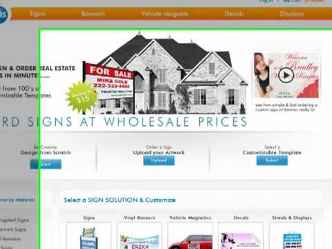 Design Custom Signs Online - Video