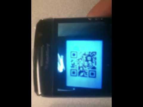Blackberry messenger bar code scanning