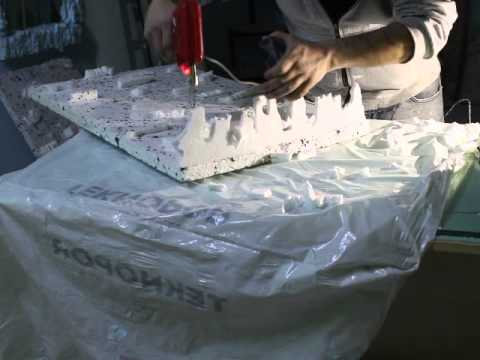 sculpting the ice ceilings part 2 Decorative room project