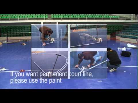 CAG futsal court installation modular tiles installation