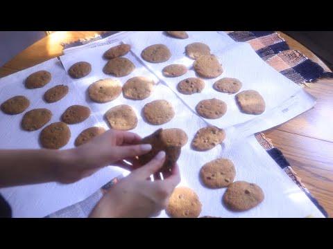 ASMR Baking Pumpkin Chocolate Chip Cookies 🎃