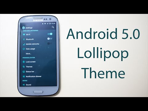 Samsung Galaxy S3 Android 5.0 Lollipop Theme (Download and Install)