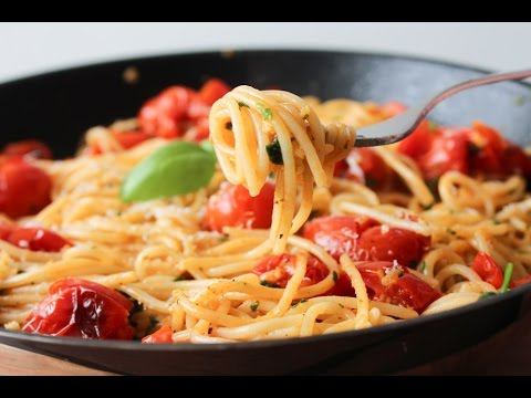 How To Make A Garlic And Cherry Tomato Pasta Dish - By One Kitchen Episode 502