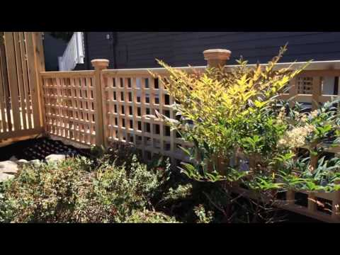 Cedar 2x2 Lattice Garden Railing
