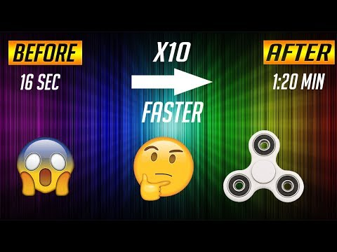 Make Your Fidget Spinner Spins 10 Times Faster!!!! (NO PRODUCT USED)