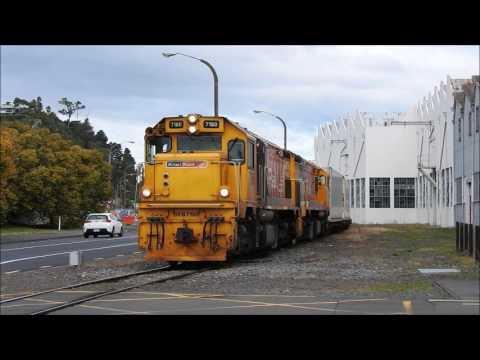 Train movements around Napier New Zealand 17 May 2017