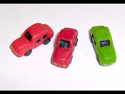 Polymer Clay Miniature - Toy cars