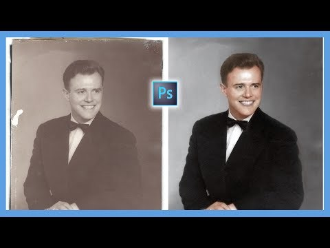 How to Repair and Colorize Old Photos (Photoshop CC Tutorial)