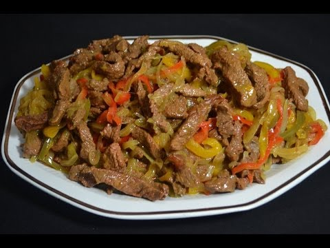 Beef and tasty fajitas recipe