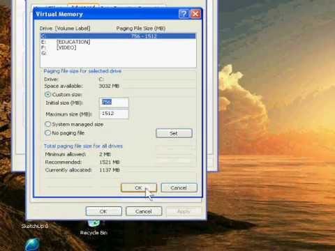 How to Fix Low Virtual Memory Problem in Window XP