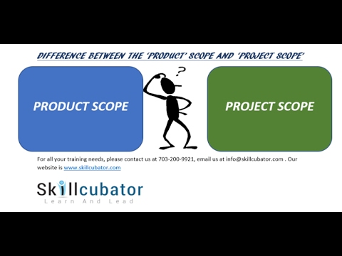 WHAT IS THE DIFFERENCE BETWEEN A 'PRODUCT' AND A 'PROJECT' SCOPE?