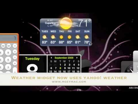 Episode 13: Weather Widget now is powered by Yahoo! in Mac OS X