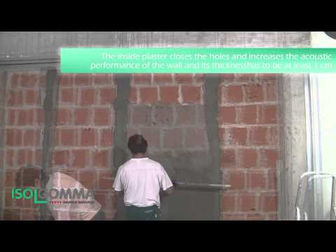 Acoustic insulation MUSTWALL: double wall