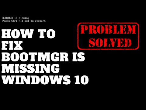 How to Fix Bootmgr is missing Windows 10