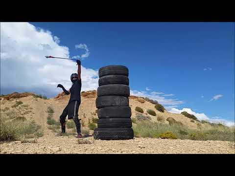 POWER STRIKES ~ Rope Meteor Whip/Flail (2nd Build) -.- Tire Stack Practice