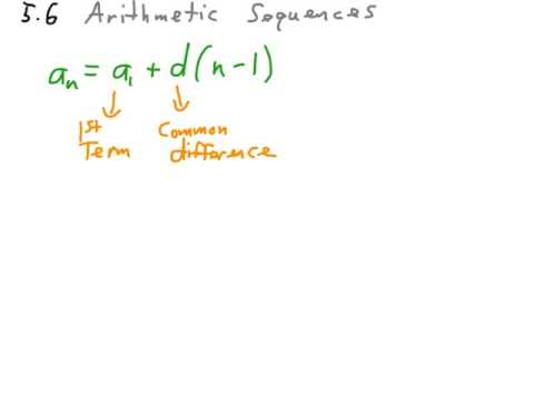 Algebra1 Arithmetic Sequences