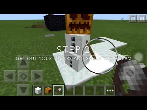How to build a snowman |Minecraft PE (0.12.1)