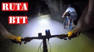 Ruta Nocturna En Bicicleta De Montaña